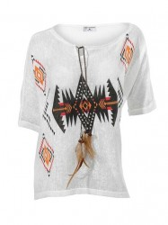 Štýlové tričko s netradičným vzorom Rick Cardona