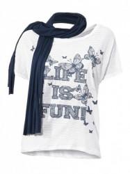 Štýlové tričko so šálom HEINE