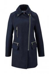 Štýlový kabát s vlnou AJC
