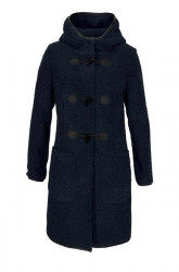 Teddy plyšový - Duffle kabát,modrý