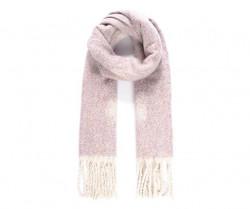 Tkaný šál s bodkovaným vzorom, ružový