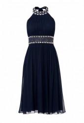 Tmavo-modré spoločenské šaty