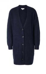 Tom Tailor dlhý sveter, tmavo modrý