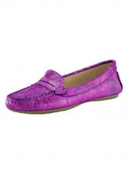 Topánky z nappa kože Heine, ružová-metalická