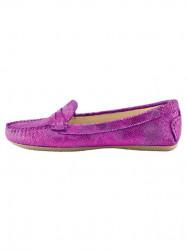 Topánky z nappa kože Heine, ružová-metalická #1