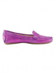 Topánky z nappa kože Heine, ružová-metalická #2