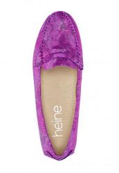 Topánky z nappa kože Heine, ružová-metalická #3