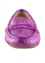Topánky z nappa kože Heine, ružová-metalická #4