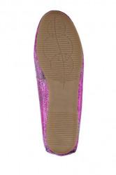 Topánky z nappa kože Heine, ružová-metalická #5