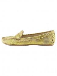 Topánky z nappa kože Heine, žltá-metalická #1