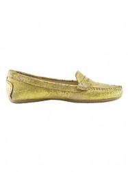 Topánky z nappa kože Heine, žltá-metalická #2