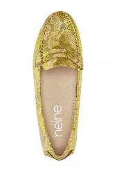 Topánky z nappa kože Heine, žltá-metalická #3