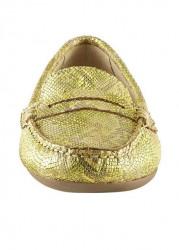 Topánky z nappa kože Heine, žltá-metalická #4
