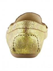 Topánky z nappa kože Heine, žltá-metalická #5
