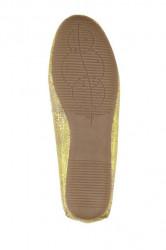 Topánky z nappa kože Heine, žltá-metalická #6