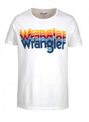 Tričko WRANGLER, biela