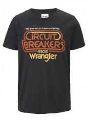 Tričko Wrangler, čierne