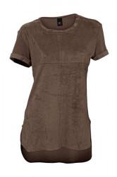 Tričko z imitácie kože, hnedá