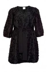Tunikové šaty JUNAROSE, čierna