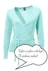 Tyrkysový zavinovací sveter HEINE - B.C.