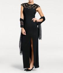 Večerné šaty Ashley Brooke, čierne