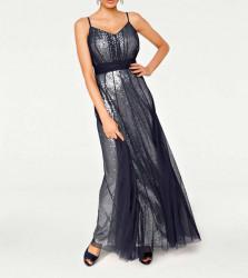 Večerné šaty Ashley Brooke event, polnočne-modré