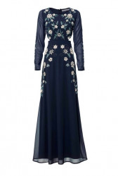 Večerné šaty Ashley Brooke, modré
