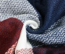 Veľká štvorcová šatka, modro-červená