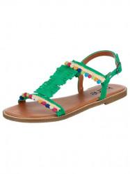 Veselé kožené sandále HEINE, zelené
