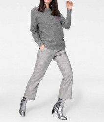 Vlnené culotte nohavice, sivé