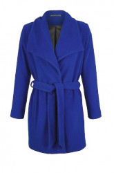 Vlnený kabát Amy Vermont, kráľovská modrá