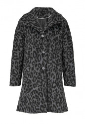 Vlnený kabát s LEO vzorom Heine, sivo-čierna