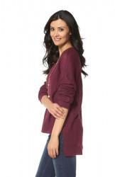 Voľný bordový pulóver Chillytime #2