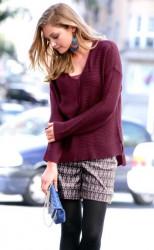 Voľný bordový pulóver Chillytime #3