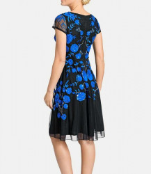 Vyšívané spoločenské šaty Ashley Brooke. čierno-modrá #3