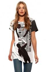 Vzorované tričko MUSIK HILFT #1