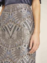 Žakarová sukňa HEINE, viacfarebná