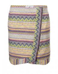 Žakarová sukňa v jarných farbách