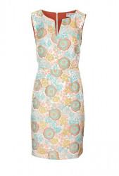 Žakarové púzdrové šaty v kvetinovom dizajne, farebné #1