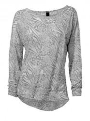 Žakarové tričko, sivé Heine- Best Connections