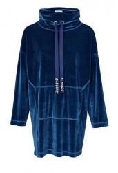 Zamatové mikino-šaty HEINE, modrá