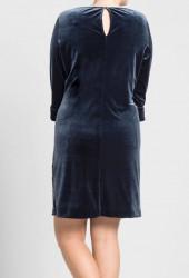 Zamatové šaty Anna Sholz, tmavomodrá #1