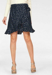 Zavinovacia sukňa Vero Moda, modro-zlatá