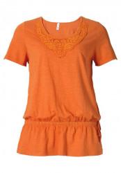 Žiarivé oranžové tričko Sheego