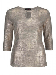 Zlaté metalické tričko, zlatá