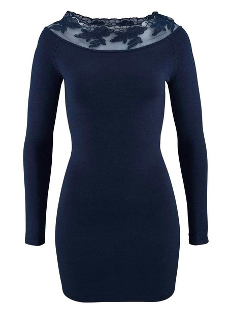 a998f6aee Carmen pletené šaty s krajkou, modrá - Mini šaty - Locca.sk