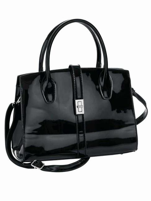 Čierna lakovaná kabelka