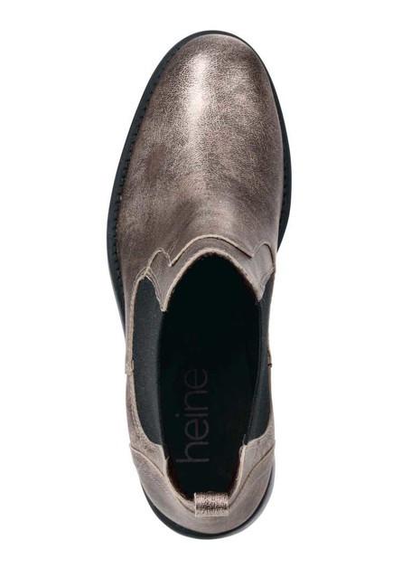 2c190f6a937d Členkové topánky s kovovým efektom Heine - Dámske elegantné topánky ...