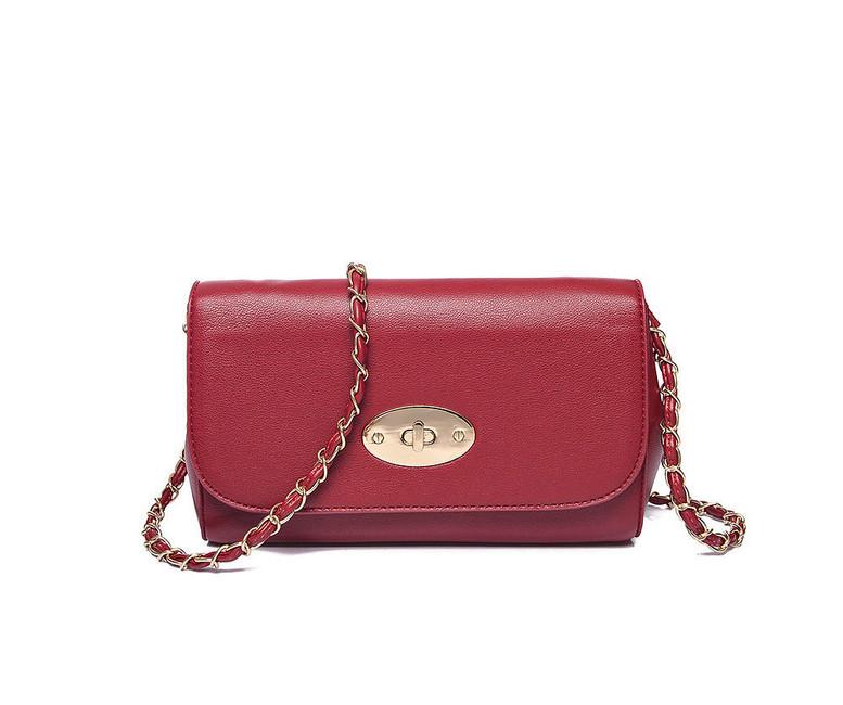 Clutch - kabelka cez plece, červená