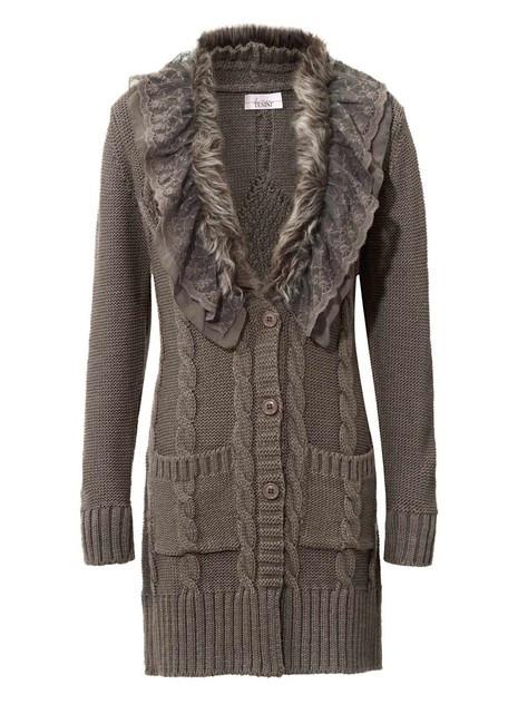 a1ff61f46c3a Dlhý sveter s kožušinkou a čipkou - Svetre a pulóvre pre moletky ...